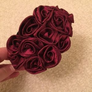 Taffeta red/ maroon headband
